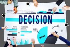Entscheidungs-auserlesenes Strategie-Marketing-Geschäfts-Konzept Lizenzfreies Stockfoto