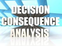 Entscheidungs-Konsequenz-Analyse lizenzfreie abbildung