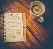 Entschließungsliste des neuen Jahres Stockfotografie