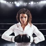 Entschlossene Geschäftsfrau Lizenzfreies Stockbild