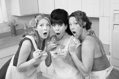 Entsetzte Frauen Lizenzfreies Stockfoto