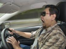 Entsetzter Fahrer-About To Have-Unfall lizenzfreie stockfotos