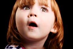 Entsetztes kleines Mädchen stockbilder