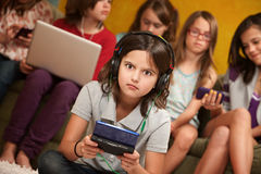 Entsetztes kleines Mädchen Lizenzfreie Stockbilder