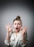Entsetztes Mädchen Lizenzfreie Stockfotos