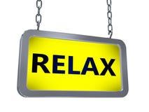 Entspannen Sie sich auf Anschlagtafel lizenzfreie abbildung