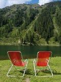 Entspannen Sie sich auf dem See stockbild