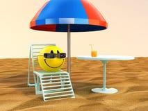 Entspannen Sie sich auf dem Strand Stockfoto