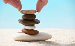 Entspannen Sie sich auf einem Strand lizenzfreie stockfotografie