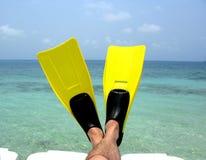 Entspannen Sie sich auf Strand Stockbilder