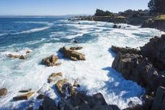 Entspannen Sie sich an der Küste des Ozeans Stockfotografie