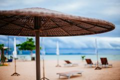 Entspannen Sie sich durch das Meer Stockfotografie