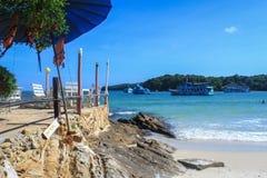 Entspannen Sie sich Ecke auf dem Strand lizenzfreie stockfotos
