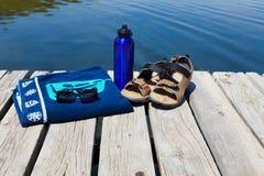 Entspannen Sie sich an einem See Lizenzfreies Stockbild