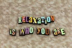 Entspannen Sie sich Entspannungsdruck genießen zu leben stockfotografie