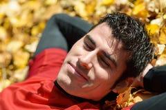 Entspannen Sie sich im Herbst Stockbild
