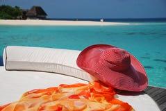 Entspannen Sie sich in Maldives stockbilder