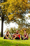 Entspannen Sie sich Park-Sommer Stockfotografie