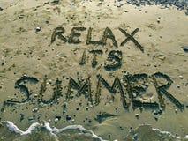 Entspannen Sie sich seinen Sommer Lizenzfreie Stockbilder