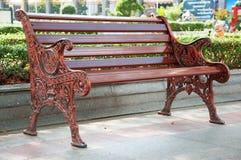 Entspannen Sie sich Stuhl im Park Stockbild