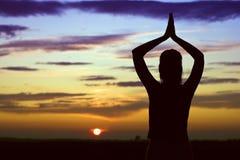 Entspannen Sie sich vom Sonnenuntergang. Stockfotografie
