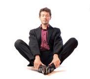 Entspannen Sie sich vor Arbeit Stockbild