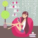 Entspannen Sie sich zu Hause Stockfotos