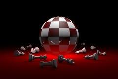 entspannen Sie tief sich Schachmetapher 3D übertragen Illustration Freier Raum stock abbildung
