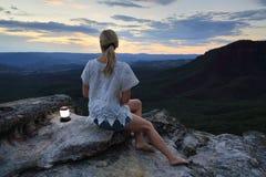 Entspannende Ansichten in die blauen Berge Australien Lizenzfreies Stockbild