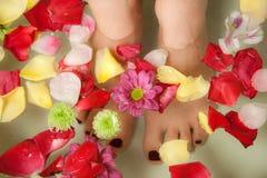 Entspannende Füße Stockfoto