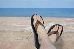 Entspannende Füße Stockfotografie
