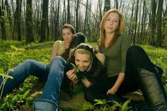 Entspannende Frauen Lizenzfreies Stockfoto