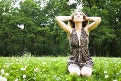 Entspannende Frauen Stockbild
