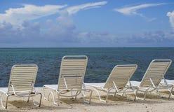 Entspannende Stühle Stockfoto
