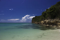 Entspannende Strandszene Stockfoto