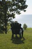 Entspannender Ansicht Huron-See Lizenzfreies Stockfoto