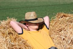Entspannender Cowboy Stockfotos