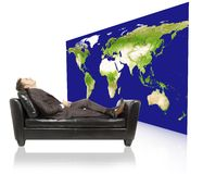 Entspannender Geschäftsmann stockfoto
