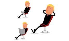 Entspannender Geschäftsmann lizenzfreie abbildung