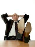 Entspannender Geschäftsmann Stockfotos