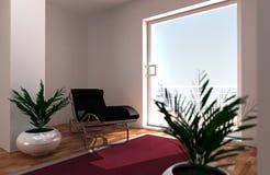 Entspannender Raum stockbild