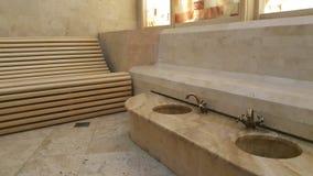 Entspannender Raum in der Badekurortmitte Stockfoto