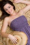 Entspannendes Cowgirl Lizenzfreie Stockfotografie