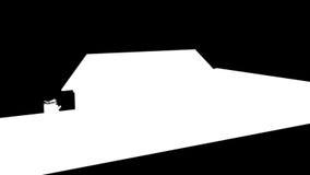 Entspannendes Haus auf Projekt-Plan mit Alpha, Gesamtlänge auf Lager stock abbildung
