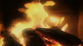 Entspannendes Kamin-Video stock footage