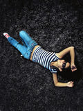 Entspannendes Mädchen Stockfotos