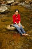 Entspannendes Mädchen Lizenzfreie Stockfotos