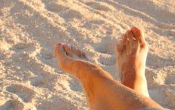 Entspannte Füße Stockfotografie