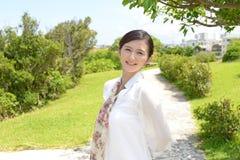 Entspannte Frau Lizenzfreies Stockfoto