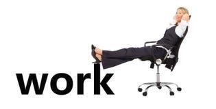 Entspannte Geschäftsfrau Stockfotografie